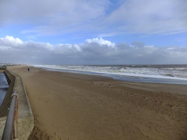A bracing beach walk
