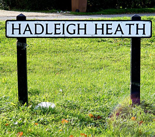 Hadleigh Heath sign