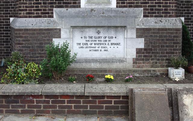 All Saints, Goodmayes - Foundation stone