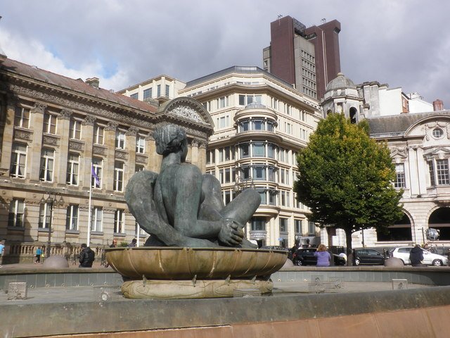 'The River' statue in Victoria Square