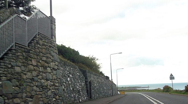 Bend in A496 at top of Harlech Cliff