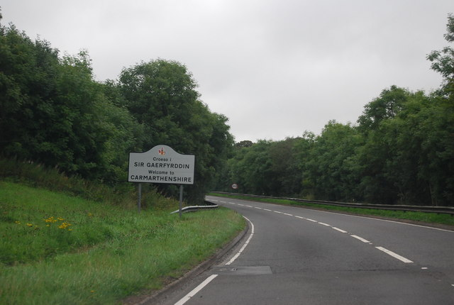 Welcome to Carmarthenshire, A477