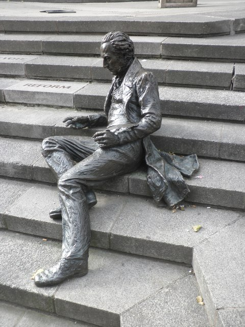Reclining statue of  Thomas Attwood, the first MP for Birmingham