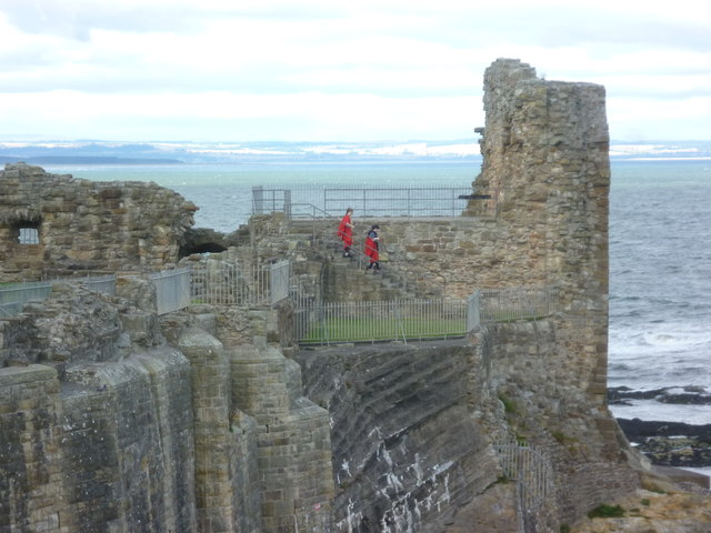 Students at St. Andrews Castle