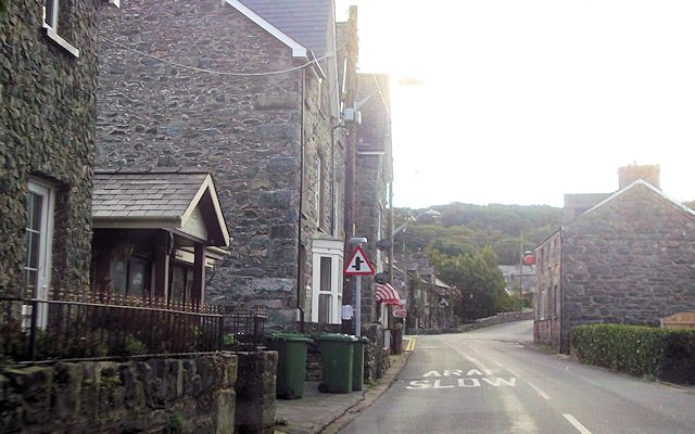 Through Llanbedr by the Post Office