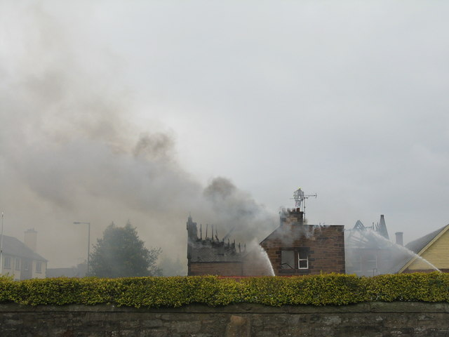 Fire in Corstorphine