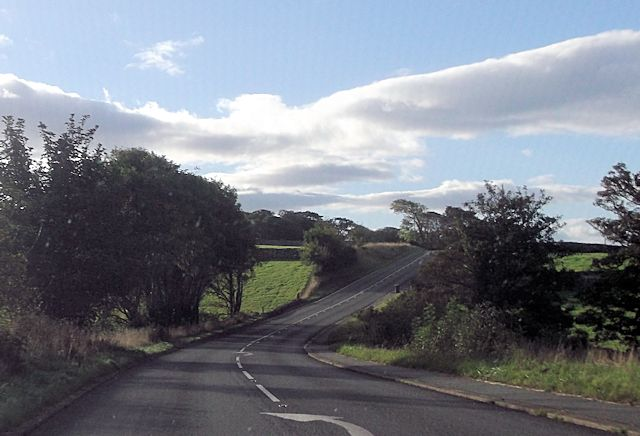 A496 at Taltreuddyn entrance