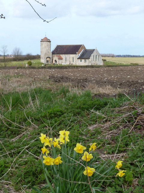 Parish Church & Daffodils