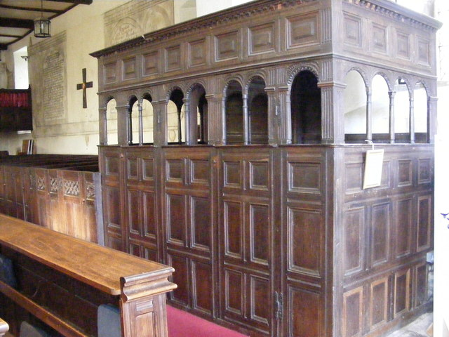 Canopied Pews