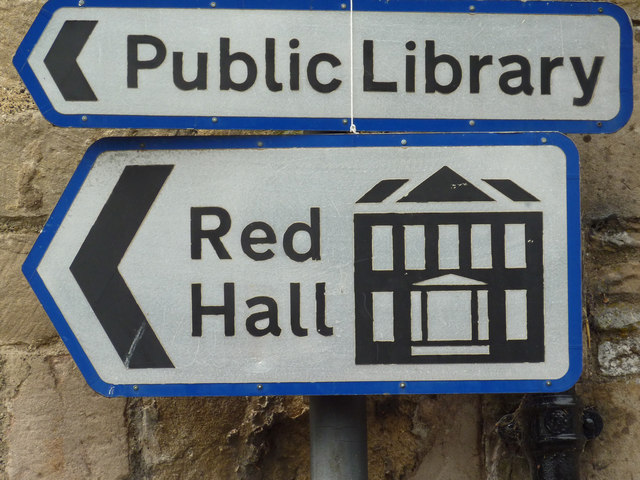 Red Hall sign