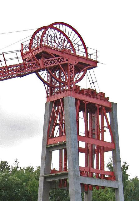 Bestwood - colliery winding wheel