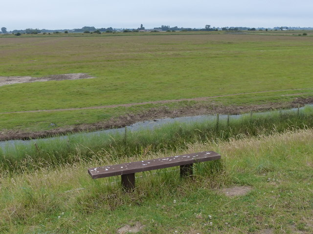 Seat overlooking Freiston Shore Nature Reserve
