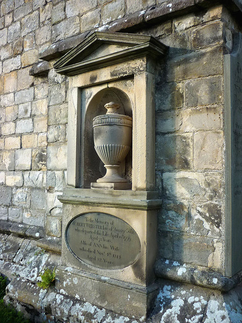 Memorial to Robert & Ann Webster, Cartmel Priory