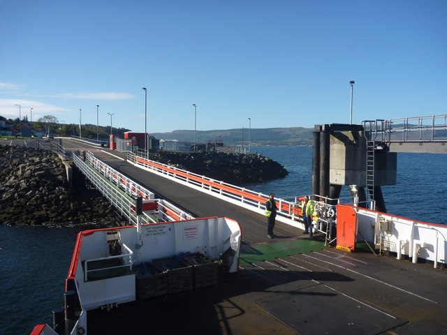Firth Of Clyde : The On - Off Ramp At McInroy's Point