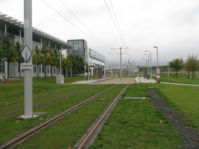 Tram stop at Edinburgh Park