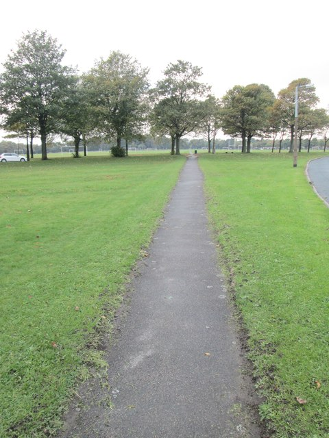 Footpath across Savile Park - viewed from Savile Park