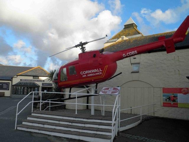 Cornwall air ambulance display Land's End