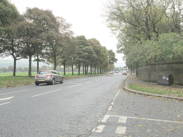 Skircoat Moor Road - viewed from Albert Promenade
