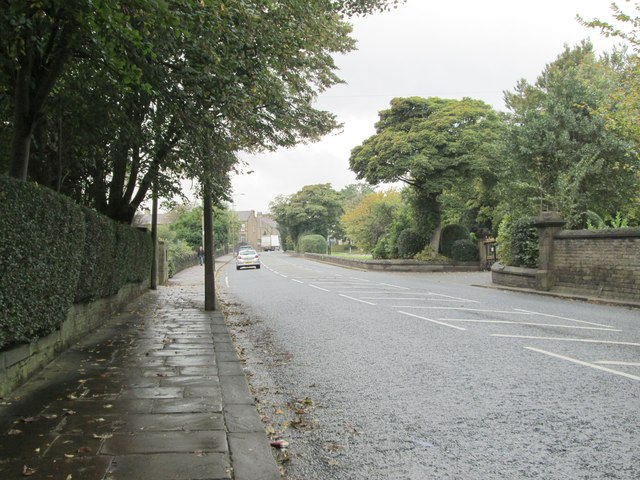 Skircoat Moor Road - viewed from Albert Promenade