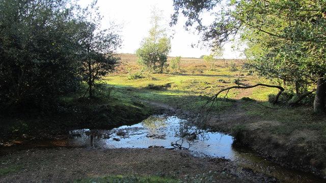 Ford crossing little stream near Buck Hill