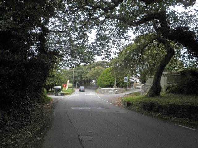 Falmouth garden centre entrance on Swanpool Road