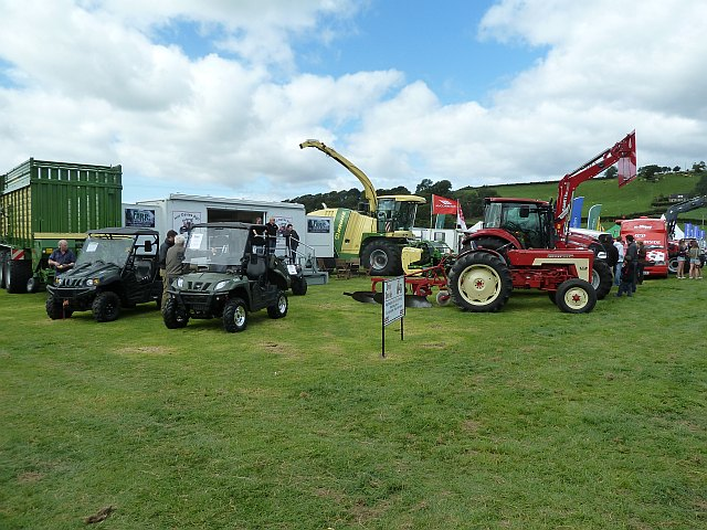 Agricultural vehicles at Llanfair Show