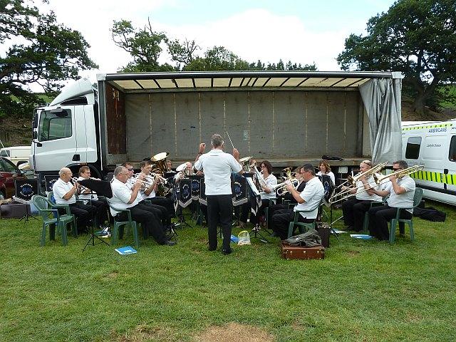 Newtown Silver Band at Llanfair Show