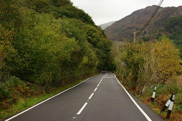 A498 Near Pont Aberglaslyn