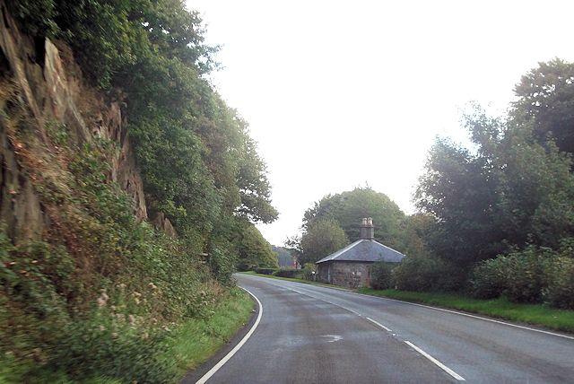 House near Glandwr Hall on A496