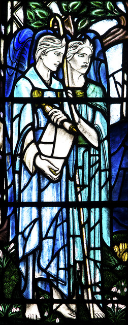 Detail of Stained glass window, Dunblane Cathedral