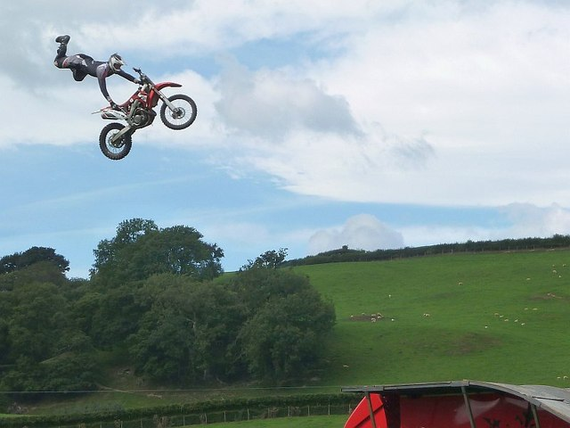 Motorbike display at Llanfair Show