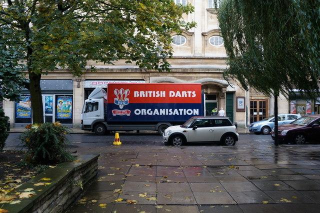 A British Darts Organisation Lorry