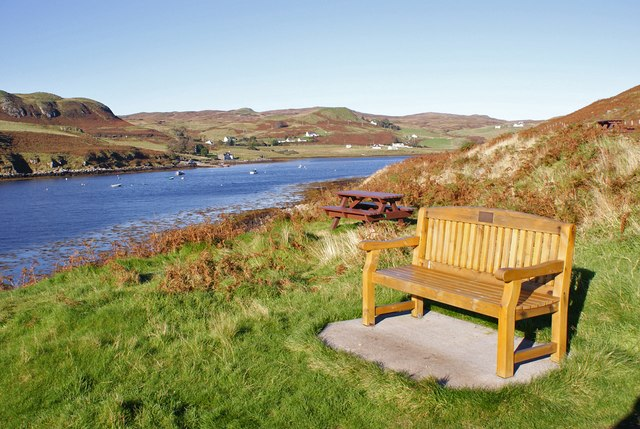 Bench at the viewpoint