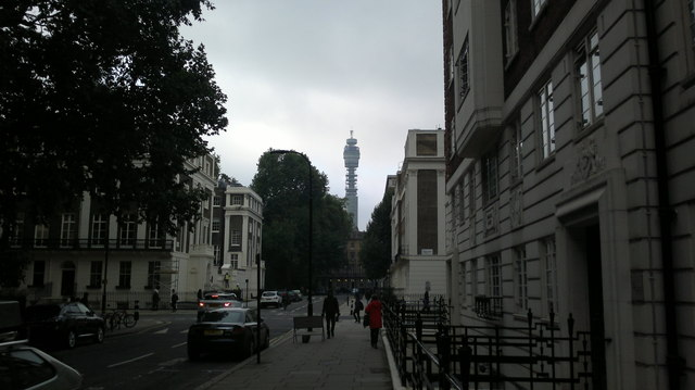 View of the BT Tower from Endsleigh Place