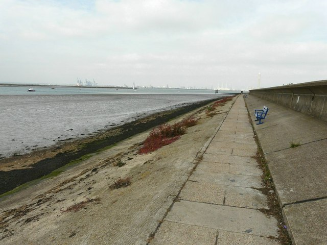 The seawall at Queenborough