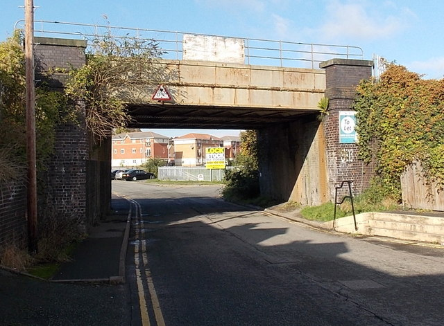 Railway bridge on the west side of Castle Foregate, Shrewsbury
