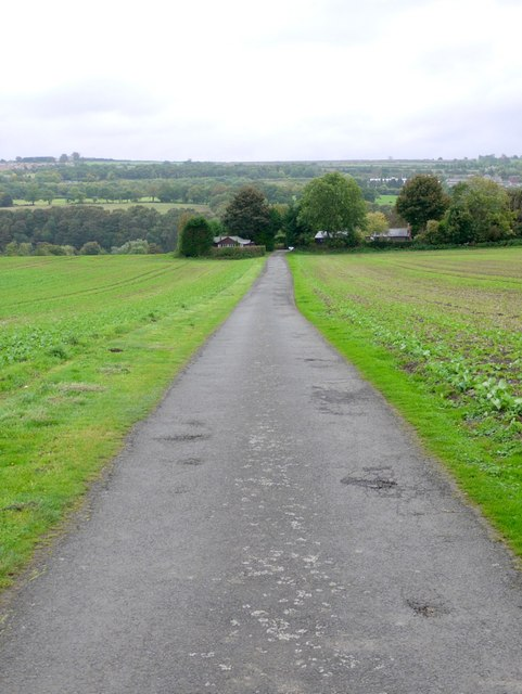 Road to Ferry Landing from Ovington road junction