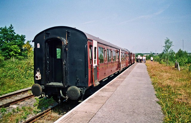 Carriages at Chasetown (Church Street) Station, Chasewater Railway, Chasetown, Staffs