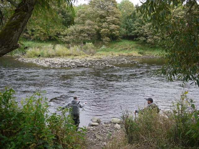 Fishing the River Tyne below Ovington