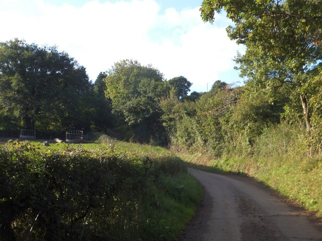 Road from Saul's Bridge to Saul's Farm