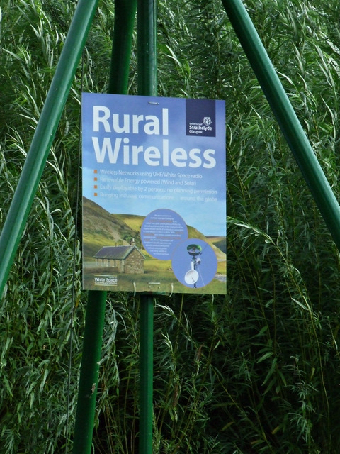 Strathclyde University Rural Wireless installation