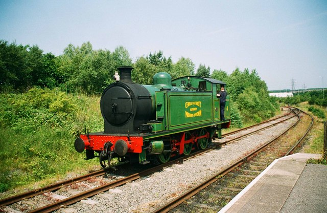 Central Electricity Authority Midlands Division locomotive no 4 at Chasetown (Church Street) Station, Chasewater Railway