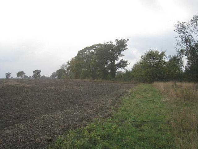 The boundary of Sandhall Park