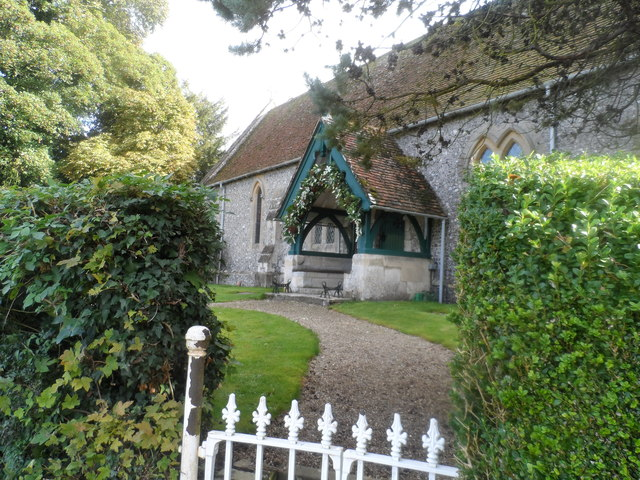 Eastern entrance to St Lawrence's church, Weston Patrick