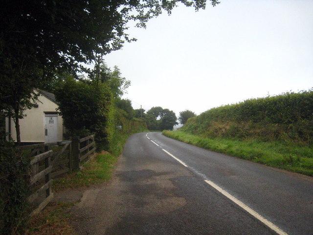 Minor road alongside Brent Tor