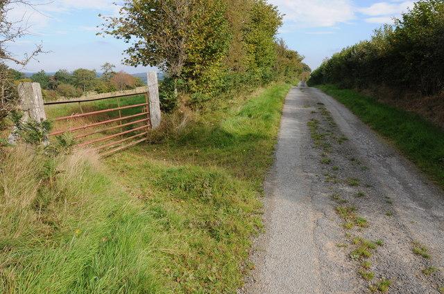 Gate off a public byway