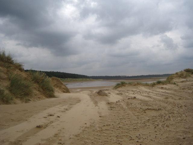 Looking through the dunes towards Holkham Gap