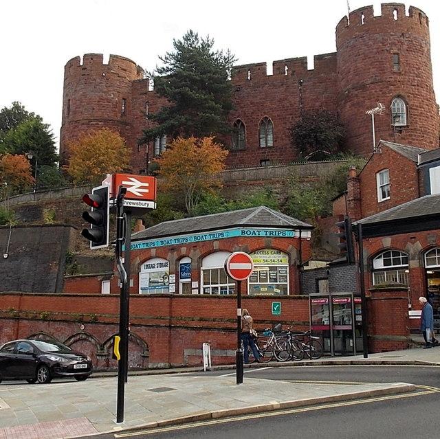 North side of Shrewsbury Castle