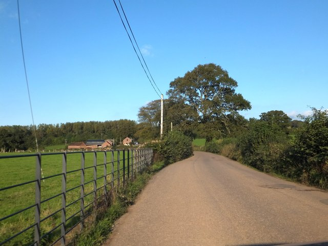 The road to Leigh Cross