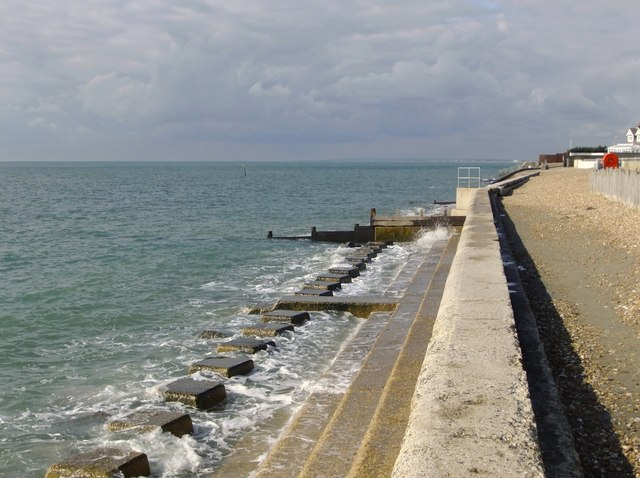 Sea defences west of Selsey Bill